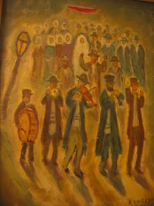 CHASSIDIC WEDDING IN THE SHTETL BY SIMON KARCZMAR