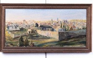 PANORAMA OF THE OLD CITY OF JERUSALEM BY ZVI RAPHAELY