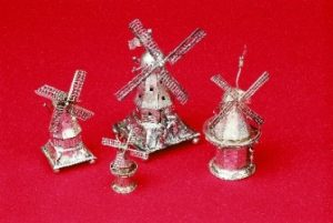 SILVER WINDMILL SPICE CONTAINERS