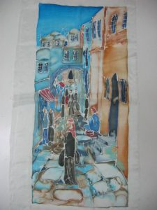 SILK SCREEN - SHUK IN THE OLD CITY OF JERUSALEM BY CAROL BYRNE