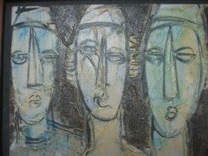 THREE CHASSIDIC JEWS BY MOSHE