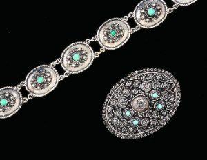 eilat stone bracelet brooch